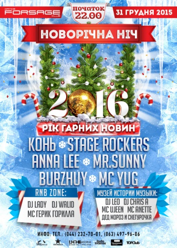 «Happy news year 2016» в клубе «Forsage»