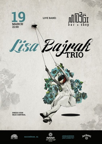 «Lisa Bajrak-trio» в «Mozgi Bar & Shop»
