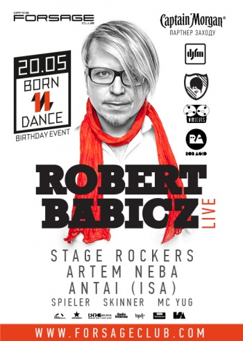 Концерт «Born 11 Dance. Robert Babicz (Live)» в «Forsage»