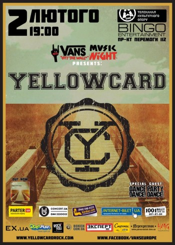 Группа «Yellowcard» в клубе Бинго