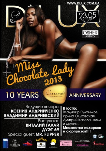 Miss Chocolate Lady 2013