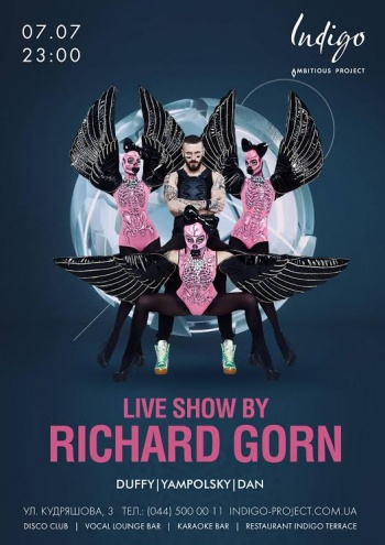 Live show by Richard Gorn в «Indigo»