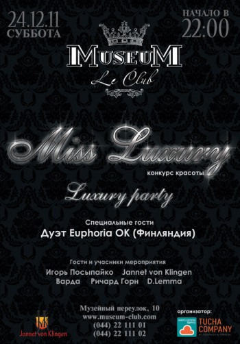 Miss Luxury in Museum Le Club