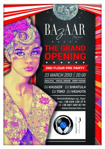 Grand Opening Bazaar music bar pre party