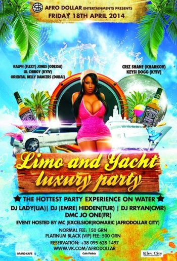 Limo and Yacht luxury party